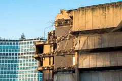 Two Modernist Buildings (Bs0u10e0) Tags: uk birmingham britain demolition modernist brutalist centrallibrary madin seifert alphatower brutalistarchitecture georgemarsh johnmadin birminghamcentrallibrary