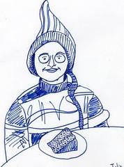 Julia Kay for JKPP (Sarmacande) Tags: portrait dessin crayon