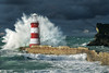 Beautiful storm (Glenn 07) Tags: lighthouse storm lovecornwall cornwall seascape waves splash cloudporn mothernature goldcollection