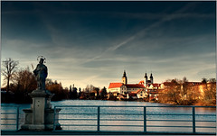 On the bridge in the old town (piontrhouseselski) Tags: cz moravia unesco telc water saint john