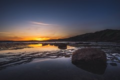 The stepping stones (solarfractal) Tags: sunset sydney landscape rocks sea sonyalpha