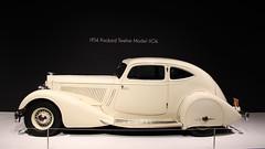 North Carolina Museum of Art - Art Deco Car Exhibit (osubuckialum) Tags: northcarolinamuseumofart ncma museum art raleigh nc northcarolina 1934 34 packard twelve model1106 classic rare white artdeco auto automobile exhibit display 2016 design