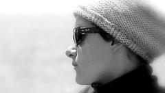 Daydream (patrick_milan) Tags: noiretblanc blackandwhite noir blanc monochrome nb bw black white street rue people personne gens streetview fminin femal femme woman women girl fille belle beautiful portrait face candide