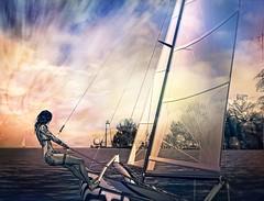 Flying (PralineB) Tags: secondlife sail sailboat sea catamaran nacra17 blakesea