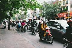 Rush hour (gambajo) Tags: vietnam hanoi scooter rush rushhour sidewalk pavement traffic chaos street streetphotography vsco vscocam