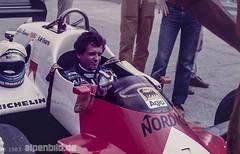 Formel 1    1983 - Mauro Baldi (alpenbild.de) Tags: hockenheim badenwürttemberg deutschland hockenheimring motodrom groserpreisvondeutschland formel1 formula1 motorsport fahrerlager pitlane boxengasse formulaone andreadecesaris alfaromeo maurobaldi f1