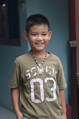 handsome boy (the foreign photographer - ) Tags: aug12015nikon handsome boy doorway khlong thanon portraits bangkhen bangkok thailand nikon d3200