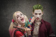 Harley Quinn and The Joker. (Jordi Corbilla Photography) Tags: mcmcomiccon comiccon comconlondon2016 nikon d750 50mm f18 jordicorbilla jordicorbillaphotography cosplay london