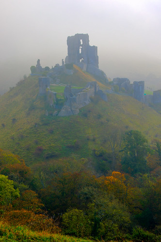 Corfe Castle Sunrise -1