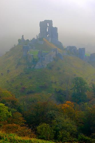 Corfe Castle Sunrise -1
