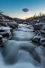 DSC_3206_3207_1024 (Vrakpundare) Tags: sweden sverige norrland abisko longexposure river sunset solnedgng fors lv ice frost