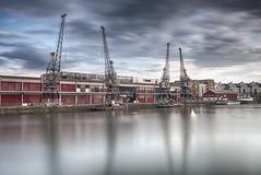 M Shed (Scott Howse) Tags: uk england bristol city docks mshed museum cranes water urban longexposure leefilters 06gndh nd110 nikon d800e nikkor 1635mmf4