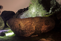 Stones (Traveling Space) Tags: night stones rocks longexposure longexposition rock landscape lightpainting lintern dark nightlandscape trees shrubbery bush ray raylight grass new flickr outdoor bigstones nocturnal lantern