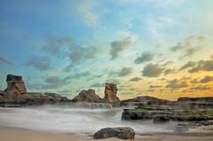 Klayar Beach (Vicky Ming Alditiara) Tags: pantai beach klayar pantaiklayar pacitan tebing batu karang d7000 nikon nikond7000 landscape longexposure slowshutter indonesia jawa timur sunset hdr
