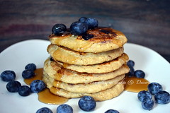 Pancakes (Yummilicious Cakes & Desserts) Tags: breakfast pancakes food blueberries gluten free delicious rustic photography yummiliciouscakesanddesserts