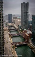 Chicago River Bridges (Mike Burgquist) Tags: openhousechicago2016 chicago bridge building river loop downtown skyline city illinois midwest train water marina el cta transit urban cityscape architecture