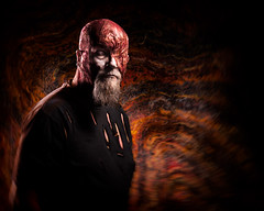 From Hell (Tortured Mind) Tags: 54 70200mmf28 kuopio suomi burned camera creative d800 dslr fi gear hell homestudio horror lens melted nikkor nikon photoshop ratio red selfportrait type zoom