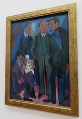 """""""Eine Künstlergemeinschaft (Der Maler der Brücke)"""", 1925-1926, Ernst-Ludwig Kirchner (1880-1938), Musée Ludwig (1986), Cologne, Rhénanie du Nord-Westphalie, Allemagne. (byb64) Tags: muséeludwig peterludwig museumludwig cologne köln colonia rhénaniedunordwestphalie nordrheinwestfalen northrhinewestphalia renaniadelnortewestfalia renaniasettentrionalevestfalia rhénanie rhineland rheinland renania ville allemagne deutschland germany germania alemania europe europa eu ue rfa nrw stadt ciudad town citta city musée museum museo artmoderne xxe 20th artcontemporain expressionisme expressionismus derblauereiter diebrücke entartetekunst kirchner ernstludwigkirchner maler peintre artiste artista"""