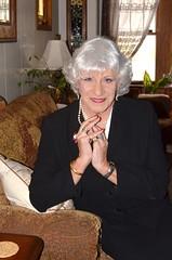 A Serious Woman? Perhaps (Laurette Victoria) Tags: woman female silver laurette suit jacket