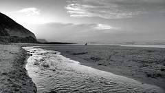 Ocean Flow (Ross Major) Tags: ocean beach cumberland river victoria bw creek landscape black whit sea seascape