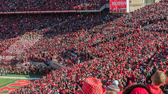Red Sea (Codydownhill) Tags: football game huskers big red sports portrait trophy brother dad