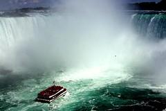 Niagara vs. Boat (livinkolourzbombshotta) Tags: canada ontario niagara falls boat tourists nature insanity unbelievable mother crushed
