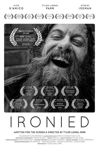 """""""IRONIED"""" OWTFF 2016 Best Actor Award Winner (Tyler Lionel Parr)"""