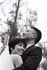 In the air (Wood Oliver) Tags: film canon eos5 85mm18 usm 135 bw ilford delta asa400 wedding couple photoshop