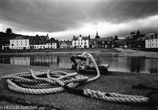 Harbour and rope (B&W Film) ...