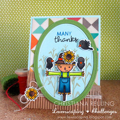 Many Thanks Scarecrow (christiana.reuling) Tags: color paper cards handmade crafts scarecrow harvest craft card coloring crows markers blackbirds copic lawnfawn