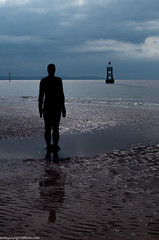 Formby beech & Gormley statues (48 of 71) (andyyoung37) Tags: sea silhouette reflections anotherplace gormleystatue crosbybeech