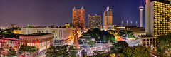 San Antonio, Texas (mudpig) Tags: longexposure panorama sculpture tower architecture night sanantonio skyscraper cityscape texas hdr mudpig stevekelley stevenkelley