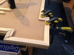 Farinelli frame in production (wearearchers) Tags: workshop archers westend theatreland goldframe thedukeofyorkstheatre farinelliandtheking
