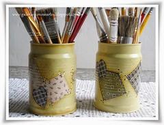 latas recicladas (Galeria Mimos e Artes) Tags: reciclagem lata portalápis latas recicladas pinturaemlata latasrecicladas portapincéis portapincel latapintada