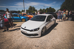 Volkswagen Scirocco (NiCo_702) Tags: white snow vw volkswagen ride air low wheels clean