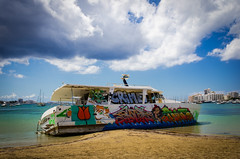 Ibiza Wrack (kraydragon) Tags: ocean beach clouds strand san meer mare wolken ibiza wreck antonio wrack