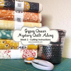 Gypsy Queen Mystery QAL (Shelley @ Cora's Quilts) Tags: mystery quilt agf artisan quiltalong gypsyqueen artgalleryfabrics mysteryquiltalong patbravo mysteryqal corasquilts artisanfabrics gypsyqueenmysteryquilt
