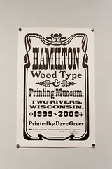 Hamilton Wood Type at UWGB