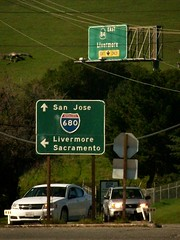Livermore dominates, Calaveras Road at Interstate 680 / Route 84, Scotts Corner / Sunol, February 21, 2015 (/\/\ichael Patric|{) Tags: california sunlight signs tree green cars grass car sign northerncalifornia geotagged highway day afternoon overpass sunny sanfranciscobayarea bayarea eastbay sfbayarea february hillside westcoast alamedacounty 680 sunnyday route84 sunol sunolvalley i680 2015 highway84 bgs interstate680 michaelpatrick buttoncopy statehighway biggreensign interstatehighwaysystem alamedacountycalifornia address:continent=northamerica address:country=unitedstatesofamerica address:state=california sunolcalifornia scottscorner biggreensigns stateroute84 californiastateroute84 february2015 address:street=calaverasroad address:city=scottscorner scottscornercalifornia address:postalcode=94586 geo:lat=375872 geo:lon=1218689