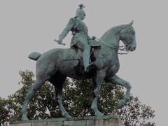 Statue of Emperor Wilhelm II on horseback - Cologne, Germany (Boortz47) Tags: equestrianstatue colognegermany klngermany hohenzollernbridge horsestatues statuesofhorses emperorwilhelmii