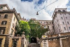 Behind the Colosseum (nick88msn) Tags: italy rome roma verde italia edificio il lazio monti colosseo dietro 5photosaday