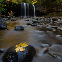 Upper Butte Creek Falls (tenmenkilled) Tags: fall water oregon canon landscape us waterfall leaf stream unitedstates pacific northwest pnw 6d 2470mm scottsmills upperbuttecreekfalls