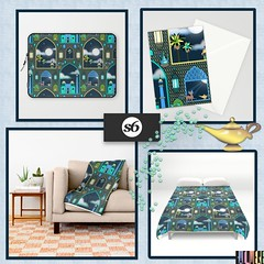 Full_Moon_Products_Society6 (vannina_sf) Tags: lamp architecture design persian pattern scene fullmoon blanket products lantern aladdin deco magical arabiannights duvetcover laptopsleeve onethousandandonenights society6 stationarycard