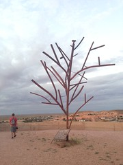Remembrance tree (chloesutton-stacey) Tags: australia travel blog downtherabbithole outback camping southaustralia lochiel rangesview landscape couple saltlake lakehart art sculpture installation sunset cooberpedy opalcapital views photography adventure backpacking oz travelling journey roadtrip