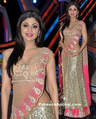 Shilpa Shetty in Nandita Mahtani's Gold Sequin Lehenga with Net Zardosi Work Choli (shaf_prince) Tags: sequin weddingdresses shilpashetty bollywoodactress zardosiwork designerwear nachbaliye bridallehenga designerlehengas indianfashiondesigners lehengacholidesigns lehengacholiforwedding bollywooddesignerdresses dresseswithlace actressinlehengas weddingwearlehenga bollywoodlehengas goldsequindresses sequinedlehengacholi