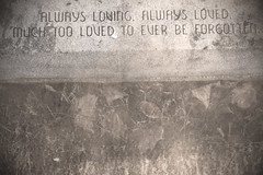 always loving (thedreamerslostsoul) Tags: ohio cemetry texture cemetaries alwaysloving