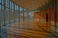 Arcs (MPnormaleye) Tags: wood city urban abstract glass gardens architecture design gallery shadows patterns conservatory ceiling utata pavilion 24mm