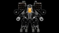 Microscale Assault Battlemech - Sabertooth (wray20641) Tags: lego render assault mechwarrior mech moc microscale