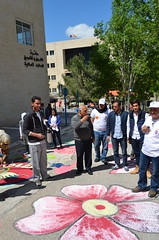 DSC_0164 (Al Ahliyya Amman University) Tags: street flowers students colors painting colorful university pretty time weekend president amman happiness jo jordan characters aau joyful       ccbysa  ahliyya          balqa      alsaro