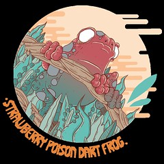 Strawberry Poison Dart Frog (Re Mouse) Tags: illustration illustrator drawing artwork animal wildlife colourful creatures zoo zoology digitalillustration dart frog dartfrog poisondartfrog poison art